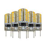 5 pcs YWXLIGHT® Dimmable G8 64 LED 3W 3014SMD 200-300 Lm Warm White Decorative LED Bi-pin Lights  AC 110V