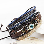 Women's Men's Leather Bracelet Wrap Bracelet Handmade Fashion Vintage Leather Irregular Jewelry ForSpecial Occasion Birthday Gift Sports