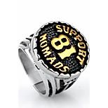 Массивные кольца Кольцо Мода Панк По заказу покупателя Хип-хоп Rock Euramerican Титановая сталь Круглый Золотой Белый Бижутерия ДляДля