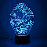 Christmas Pattern Turtles Touch Dimming 3D LED Night Light 7Colorful Decoration Atmosphere Lamp Novelty Lighting Christmas Light