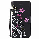 For Card Holder Wallet with Stand Flip Case Full Body Case Colours Flower Hard PU Leather for iPhone 7 Plus 7 6s Plus 6  6 Plus SE 5S 5 5C