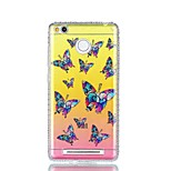 For Xiaomi Redmi 4a Note 4 Rhinestone IMD Translucent Butterfly Pattern Back Cover Case Hard PC Note 4X