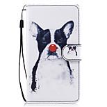 Für Hüllen Cover Geldbeutel Kreditkartenfächer mit Halterung Flipbare Hülle Muster Magnetisch Handyhülle für das ganze Handy Hülle Hund