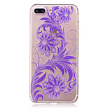 For IMD Transparent Case Back Cover Case  Flower Soft TPU for iPhone 7 Plus 7 6s Plus 6 Plus  6s  6 SE 5S 5