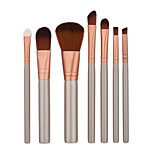 7 Eyeshadow Brush Brow Brush Foundation Brush Nylon Professional Travel Full Coverage Eco-friendly Portable Aluminum Face Eye