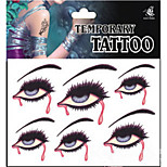 Temporary Tattoos Face Body White Series 3D Rose Waterproof Tattoos Stickers Non Toxic Glitter Large Fake Tattoo Halloween Gift 22*15cm