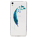 For Sony Xperia XA M2 Case Cover Feathers Pattern Painted High Penetration TPU Material IMD Process Soft Case Phone Case