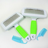 2017 New pets rubber soft handle Pet comb Stainless steel dog comb Factory Outlet Beauty fluffy hair Cat Dog Brush