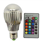 9W E27 Bombillas LED de Globo A60(A19) 1 LED Integrado 800 lm RGB Regulable Control Remoto Decorativa AC 85-265 V 1 pieza