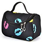 Cosmetic Bag Lip Print Quadrate Others Black Blue Purple Pink