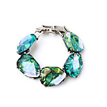 Women's Chain Bracelet Jewelry Fashion Alloy Geometric Light Blue Jewelry For Wedding Party Anniversary 1pc