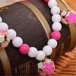 Dog Necklace Dog Clothes Summer Pearl Cute Blue Fuchsia Yellow Purple