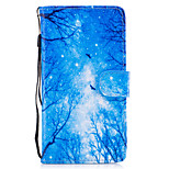 For Huawei P8 Lite (2017) P9 Lite Case Cover Blue Woods Pattern Painted Card Stent PU Material Phone Case Mate 9 Honor 5C Honor 8 Honor 7