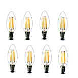 ® Shenmeile 4.5W E14 LED Filament Bulbs C35 6 COB 600 lm Warm White Decorative AC220 AC230 AC240 V 8 pcs