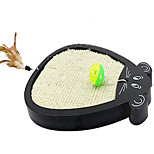 Cat Toy Pet Toys Interactive Scratch Pad Plastic Sisal