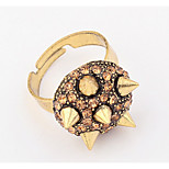 Euramerican Rhinestone Taper Personality Conical Mushroom Star Cuff Ring Movie Jewelry