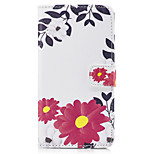 For Huawei P10 Lite P10 PU Leather Material Safflower Pattern Painted  Phone Case P8 Lite (2017) Honor 6X Nova Honor 8 Honor 5C