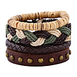 And The Wind Rope Weaving Multilayer Coconut Shell Bracelet