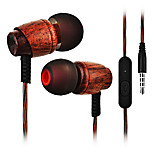 Cwxuan® Wooden Stereo Earphone with Mic / Smart Button for iPhone 6/iPhone 6 Plus /5S Samsung S4/5 HTC and Others