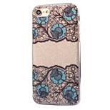 For Apple iPhone 7 7 Plus 6S 6 Plus Case Cover Lace Flowers Pattern Acrylic Backplane TPU Frame Flash Powder Phone Case