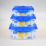 Airtight Clear Plastic Food Container Retangular