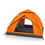 3-4 человека Световой тент Один экземляр Автоматический тент Однокомнатная Палатка 2000-3000 мм Стекловолокно ОксфордВодонепроницаемый