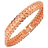 Women's Men's Chain Bracelet Jewelry Fashion Gold Copper Heart Geometric Rose Gold Jewelry ForParty Special Occasion Halloween