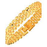 Women's Men's Chain Bracelet Jewelry Fashion Gold Geometric Gold Jewelry ForParty Special Occasion Halloween Anniversary Birthday
