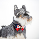 Cat Dog Adjustable Fashion Star Collar Bowtie with Bells