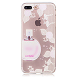 For Apple iPhone 7 Plus 7 Case Cover Transparent Pattern Back Cover Case Flower Soft TPU for Apple iPhone 6s Plus 6 Plus 6s 6 5 5S SE