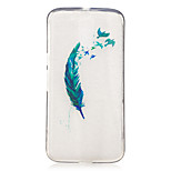 For Motorola Moto G4 Play G4 Plus Case Cover Feathers Pattern Painted High Penetration TPU Material IMD Process Soft Case Phone Case