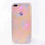 For iPhone 7 Plus 7 Case Cover Translucent Pattern Back Cover Case Dandelion Soft TPU for iPhone 6s Plus 6 5S 5 SE
