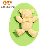 Animal Mould Teddy Bear Bow Fondant Silicone Molds for cake decorating Colour Random