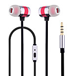 Newmine MX670 Mobile Earphone for Cellphone Computer In-Ear Wired Metal 3.5mm With Microphone Noise-Cancelling