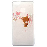 For Huawei P10 P9 Lite Case Cover Bear Pattern High Transparent TPU Material IMD Craft Mobile Phone Case P8 Lite 2017