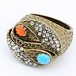 Korean Style Fashion Rhinestone Personalized Bright Diamond Gemstone Ring - Tai chi