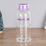 260ml High-capacity Transparent Glass Water Bottle
