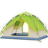 3-4 человека Световой тент Двойная Автоматический тент Однокомнатная Палатка Стекловолокно ОксфордВодонепроницаемость С защитой от ветра