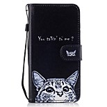 For Huawei P8 lite 2017 Mate9 Card Holder Wallet with Stand Flip Pattern Case Full Body Case Cat Hard PU Leather for Honor 5C 7 8 Y5 II Y6 II Y560