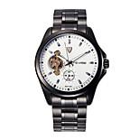 Tevise Men's Women's Couple's Fashion Watch Mechanical Watch Quartz Calendar Water Resistant / Water Proof Luminous Stainless Steel Band
