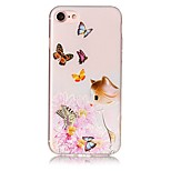 For IMD Embossed Case Back Cover Case  Cat Flower Soft TPU for Phone 7 Plus 7  6s Plus  6 Plus  6 SE 5S 5