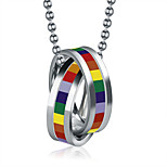 Rainbow Necklaces Pendants Stainless Steel Gay Pride Jewelry