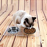 Cat Dog Bowls & Water Bottles Feeders Pet Bowls & Feeding Waterproof Portable Transparent