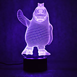 크리스마스 펭귄 거북이 터치 디밍 3d LED가 밤 빛 7colorful 장식 분위기 램프 참신 조명 크리스마스 빛