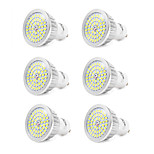 YouOKLight 6PCS GU10 7W 600LM AC110-240V 48*SMD 2835 LED Cold White 6000K LED Spotlight Bulb - Silver