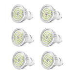 7W GU10 Focos LED 48 SMD 2835 600 lm Blanco Fresco V 6 piezas