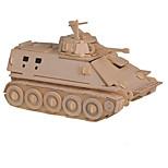 Rompecabezas Puzzles 3D Bloques de construcción Juguetes de bricolaje Tanque Madera Modelismo y Construcción