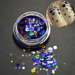 1Bottle Fashion Nail Art Laser Glitter Paillette Round Slice Mixed Colorful Design Decoration P9