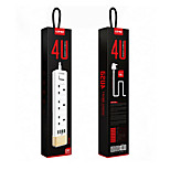 LDNIO SK3460 Anti-static UK Power Strip With 3 Power Socket 4-Port USB Plug 5v/2.4A Home Charger 1.6m cable length