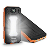 The New 6000mah  Ssolar Charger Camping Lamp Compass Universal Ssolar Mobile Power Supply